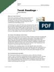 Weekly Torah Readings