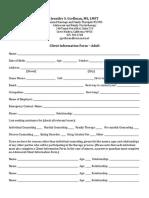 Updated Client Info Form - Jennifer Grellman