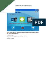Ihone iPad App User Manual- ip cam