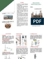 triptico destilacion
