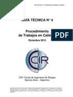 CIR GT4 Permisos de Trabajo en Caliente Dic 2013