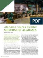Alabama Voices Exhibit - Museum of Alabama