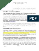 2014 Q2 FRMO Transcript Deferred Tax Liability for Unrealized Gains Ascent Capital