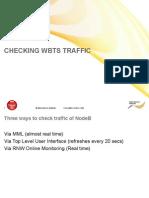 01 Checking WBTS Traffic