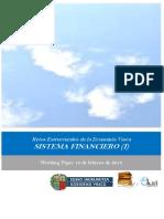 Retos Estructurales de la Economia Vasca. SISTEMA FINANCIERO (I)