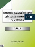 Consumuri de Energie in Instalatii