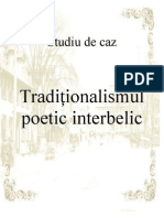 Studiu de Caz-traditionalismul Poetic Interbelic
