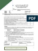 Efm Langage de Programmation Structuree Tdi 2010 2011 Variante 1