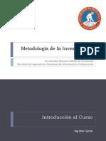 Metodologia de Investigacion Clase 1