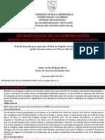 Antropología de La Comunicacion