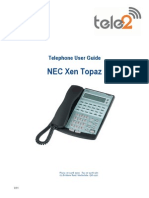 NEC Topaz Quick Reference Guide
