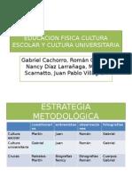 3.1. Cultura Escolar y Cultura Universitaria
