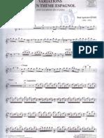 Variations Thème Espagnol,Saxo