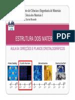 Direções e Planos Cristalograficos