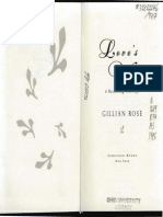 Gillian Rose on Love