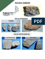 BIOLOGIA Tarea Cesar 2 Tipos de Rocas