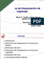 4. Polinomios de Interpolacion de Lagrange
