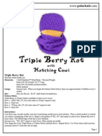 Triple Berry Hat and Cowl