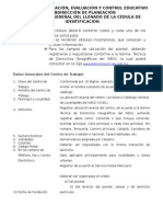 Instructivo de La Cédula de Iden