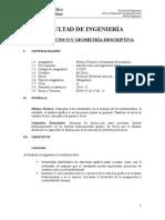 Syllabus Dibujo Técnico y Geometría Descriptiva (2013 II) UCSS