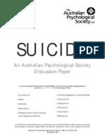 Suicide Position Paper