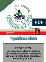 Primaria Federal. Programa Estatal de Lectura