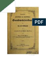 JEHOVA WOHLKLANG - Kurzgefasstes Hebraeisches u. Chaldaeisches Handwoerterbuch (Franz Maurer, 1851)