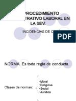 El procedimiento administrativo laboral en la SEV