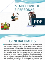 Del Estado Civil de Las Personas