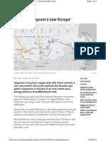 China is 'Gazprom's New Europe'