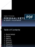 personal dictionary english 1t