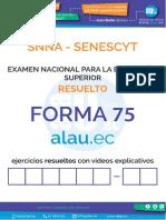 Forma Alauec Examen SENESCYT Resuelto
