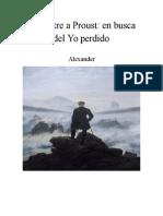 De Sartre a Proust en Busca Del Yo Perdido