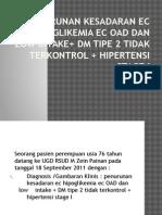 Penurunan Kesadaran Ec Hipoglikemia Ec OAD Dan Low