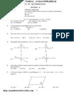 9th Mathematics Sample Paper Sa-II-2