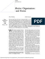 The Effective Organization. Forces and Forms