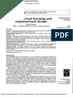 Organizational Learning and Organizational Desing