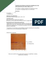 Protocolo de Identificación de Alcaloides de núcleo Purínico por Cromatografía en Capa Fina