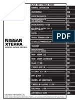 2001 Nissan Exterra Service Manual TOC