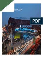 Barclays Center, June30, 2014 Financials