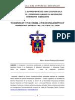 El Ejercicio Del Sufragio en Mxico Como Excepcin en La Universalidad de Los Derechos Humanos. La Nacionalidad Como Factor de Exclusin