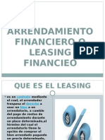 Arrendamiento Financiero o Leasing Financieo Diapositivas