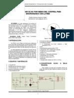 Convertidor Ac-Ac Por Medio Del Control Pwm Sincronizado Con La Red