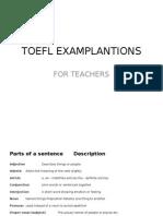 TOEFL Examplantions