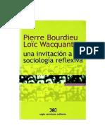 Pierre Bourdieu - Una Invitación a La Sociología Reflexiva [Www.refugiosociologico.blogspot.com