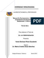 Manual de reclutamiento y Seleccion