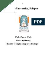 Ph.D. Course Work Syllabus in Civil Engg.