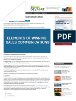 7 Elements of Winning Sales Communications