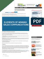 7 Elements of Winning Sales Communications
