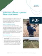 Fact Sheet Geophysical Surveys